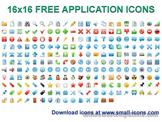 16x16 free application icons 2013 1 free download